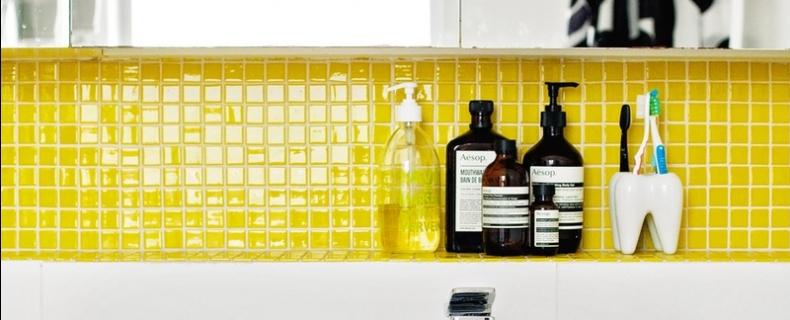 Inspiratie – gele badkamers