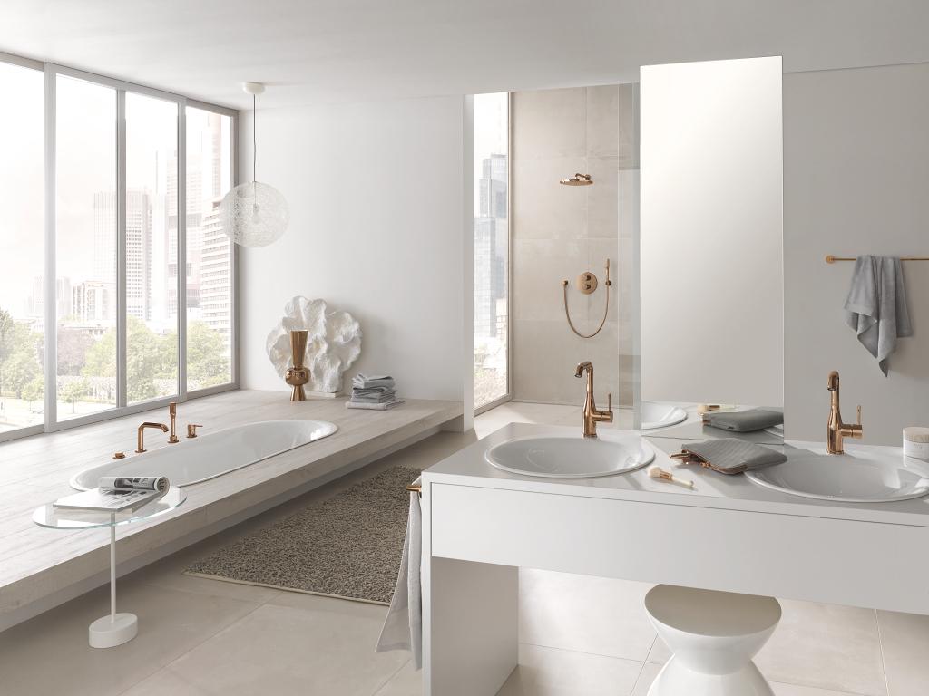 Hoe combineer je koper in de badkamer?