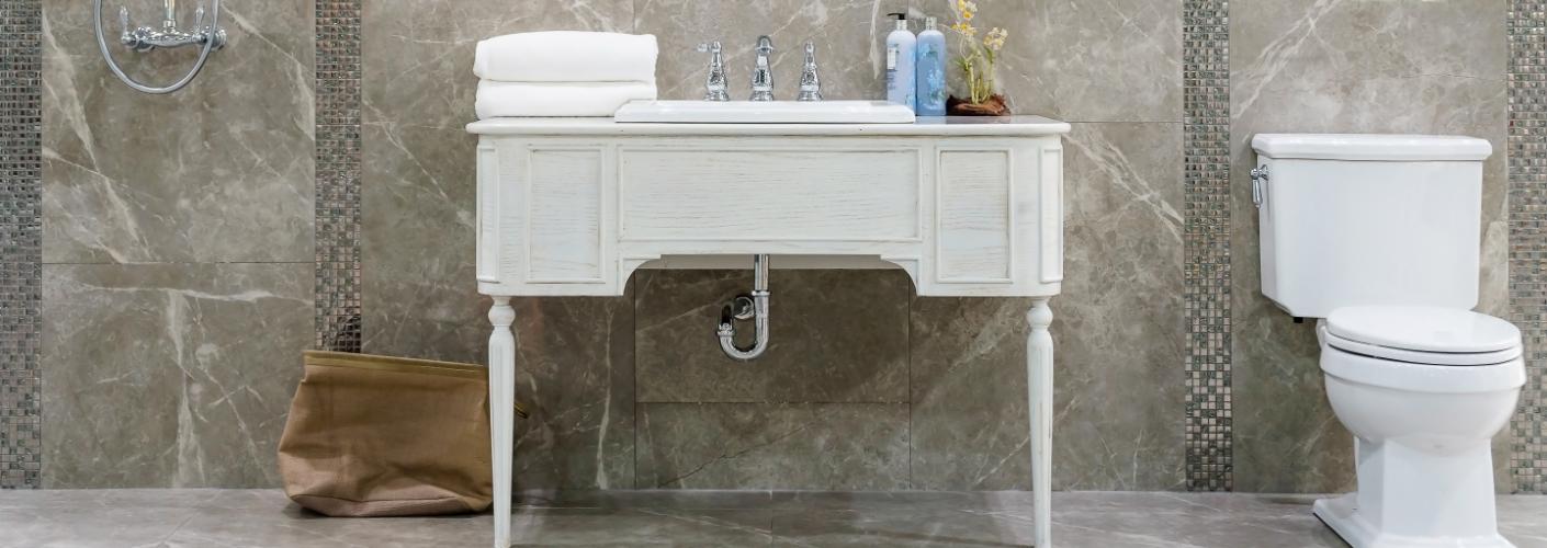 Trend: maak van een vintage dressoir een badkamermeubel met opzetwastafel