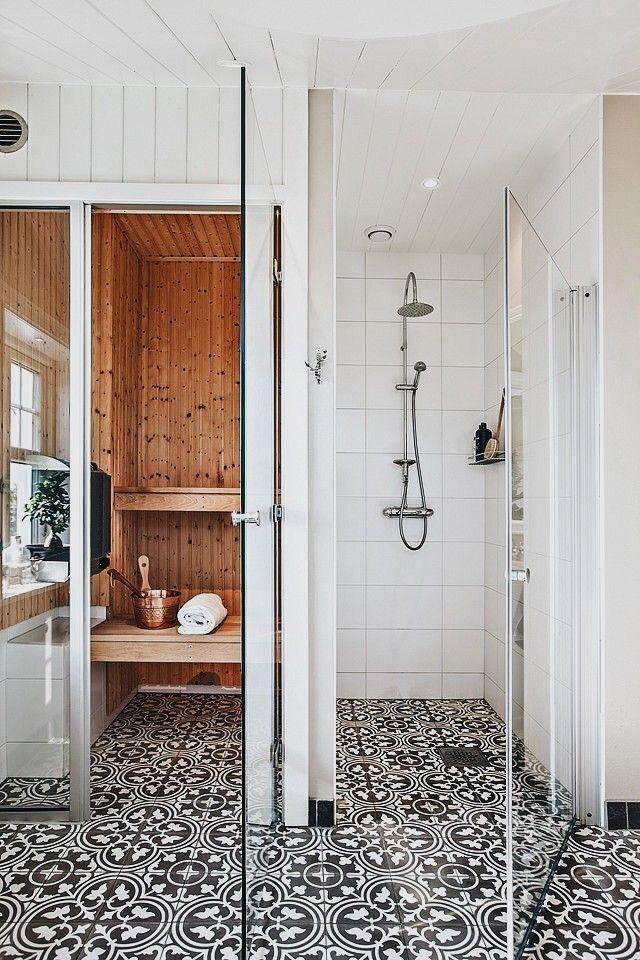inloopdouche badkamer sauna