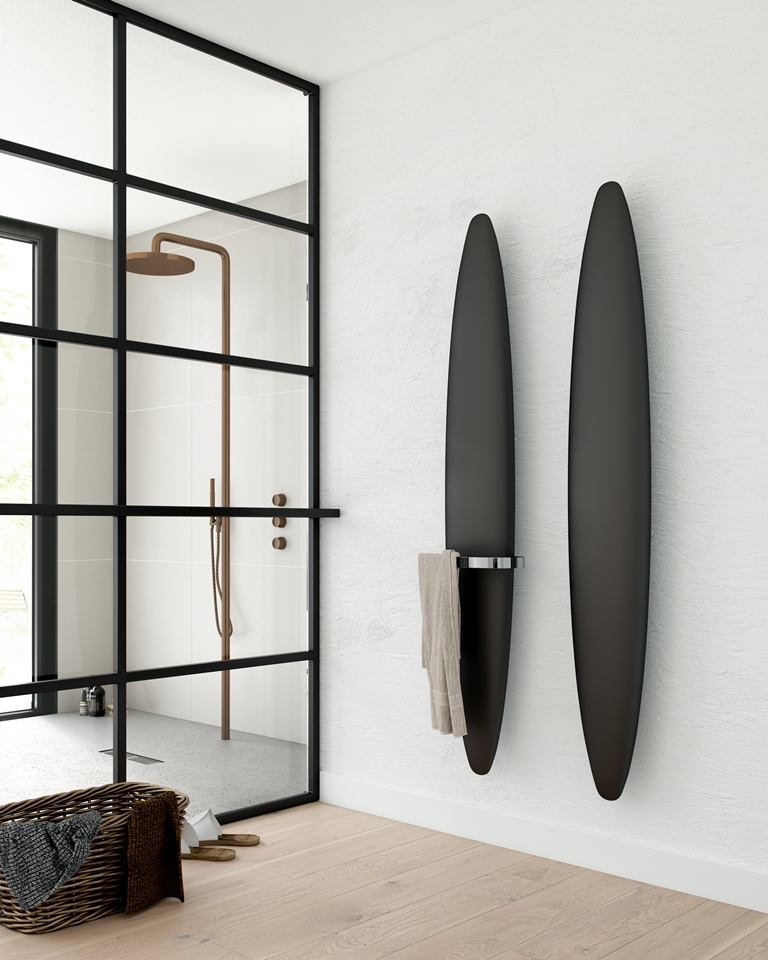design radiator in badkamer vochtige ruimte