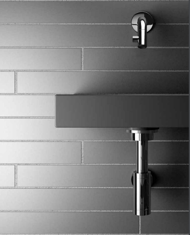 Vrijhangende wastafels in badkamer