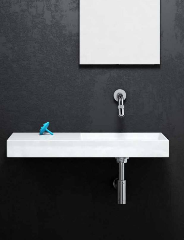 badkamer met Vrijhangende wastafels