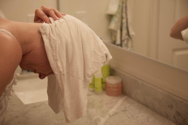 zachte haren zonder pluis badkamer