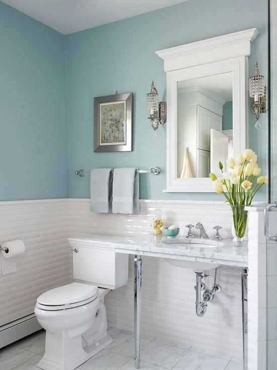 pasteltinten in badkamer