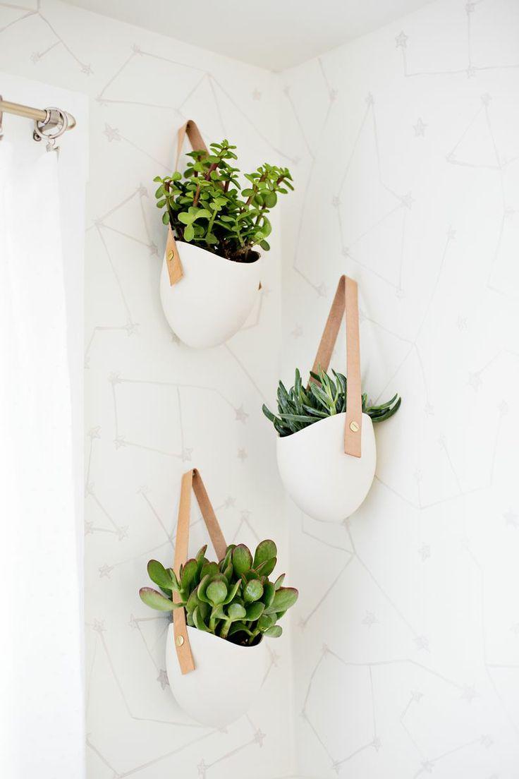 hangplanten in badkamer