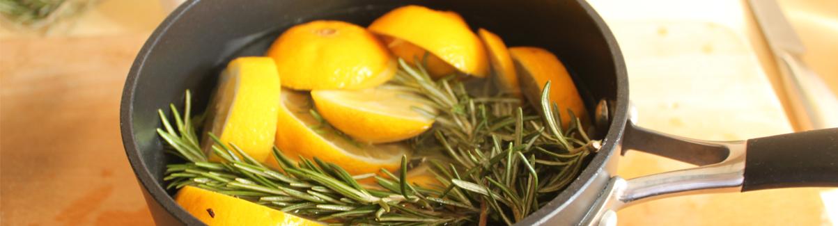 frisse geur met citroen
