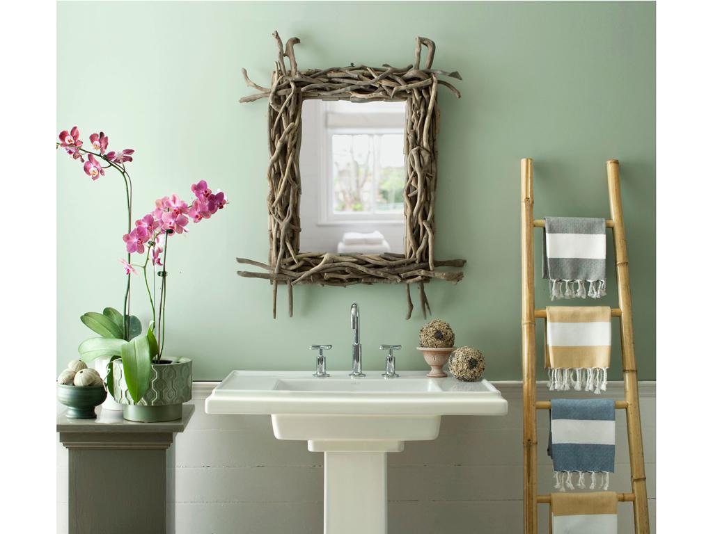 pastelkleuren in badkamer