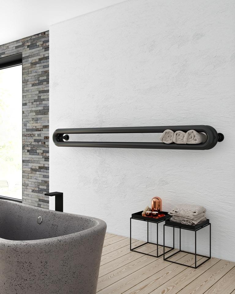 moderne verwarming in badkamer