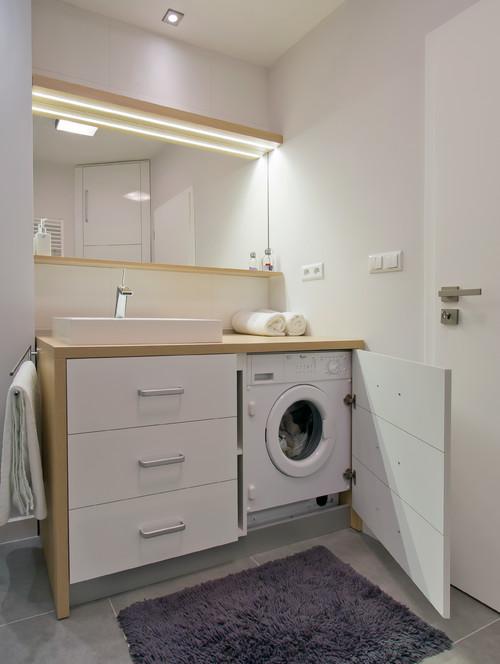 wasmachine en wastafel