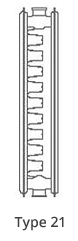 radiator type 21