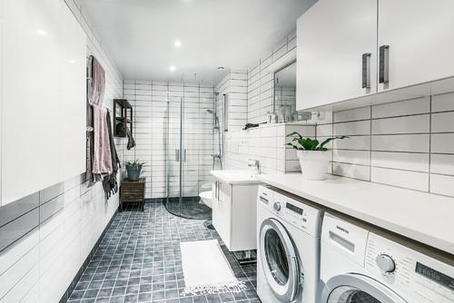 wasmachine in vochtige ruimte
