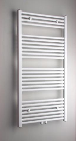 Blinq Altare R handdoekradiator 40x120 cm. n25 438w recht middenaansl. wit ral 9016