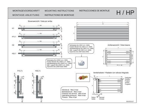 Vasco Viola H1-Ro radiator 800x578 mm. n8 as=0027 511w wit ral 9016