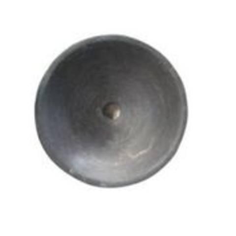 Blinq Ispra hardstenen opzetwastafel rond 32cm zwart