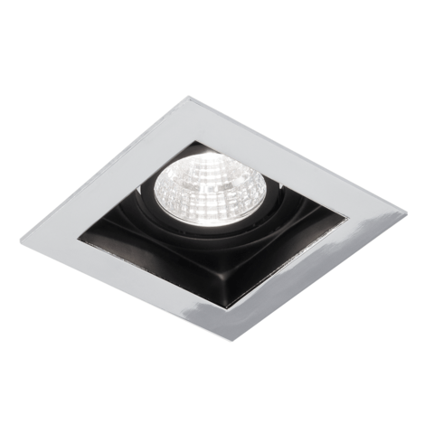 Blinq Cantello inbouw LED spot 90x90 mm vierkant chroom