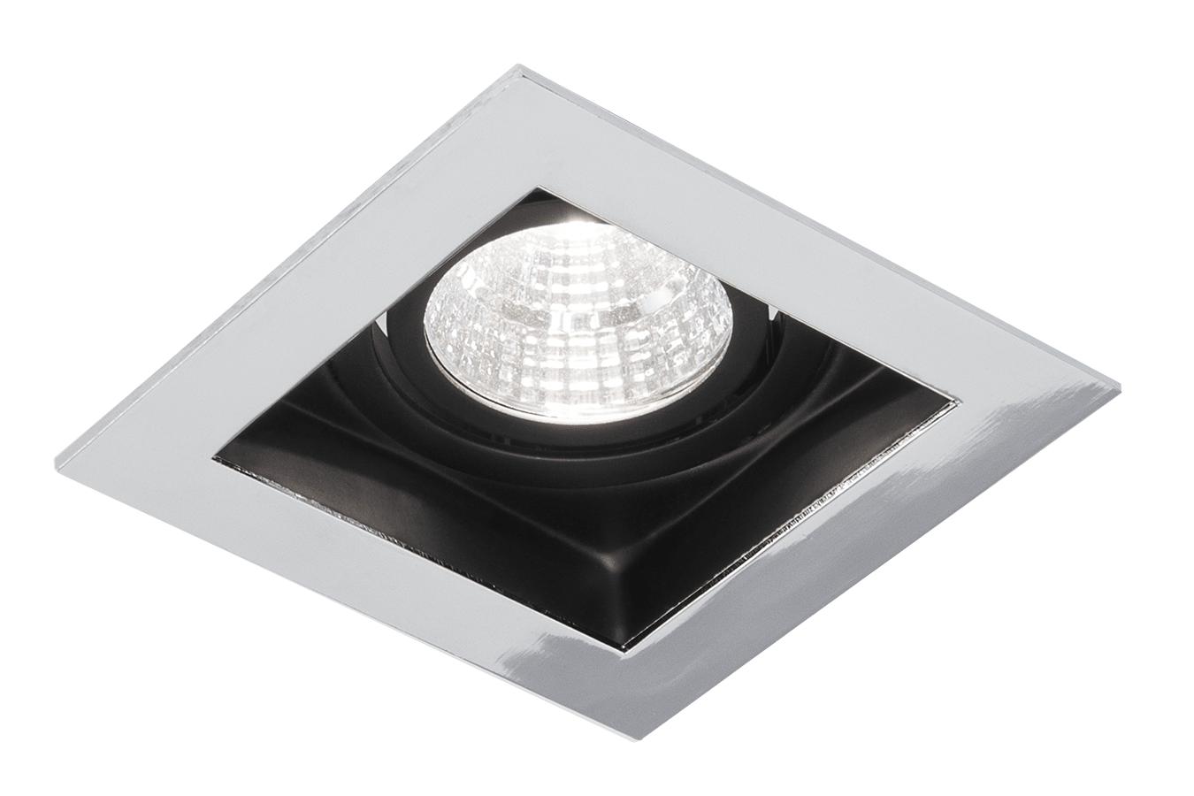 Blinq Cantello inbouw LED spot 90x90 mm vierkant chroom