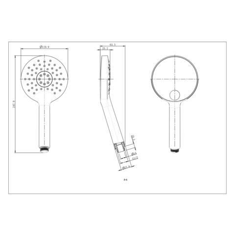 Blinq Memphis Round handdouche met 3 functies chroom