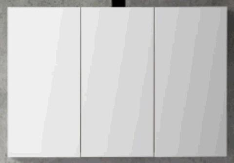 Blinq Tania spiegelkast 120 cm. met 3 deuren wit gelakt