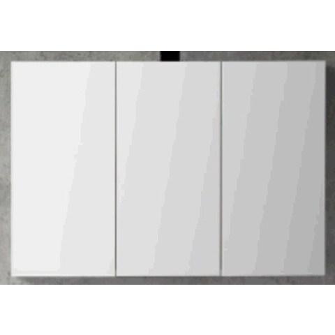Blinq Tania spiegelkast 100 cm. met 3 deuren donker eiken