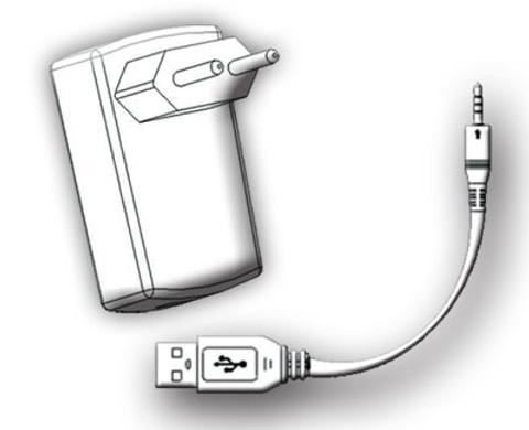 Aquasound  oplaadset compleet voor wipod zwart