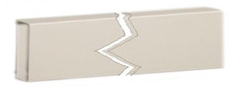 """Aquasound  doorvoerkoker 6x2x200 cm. voor 22 en 27"""" tv wit"""