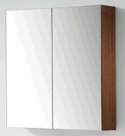 Blinq Tania spiegelkast 80 cm. met 2 deuren donker eiken