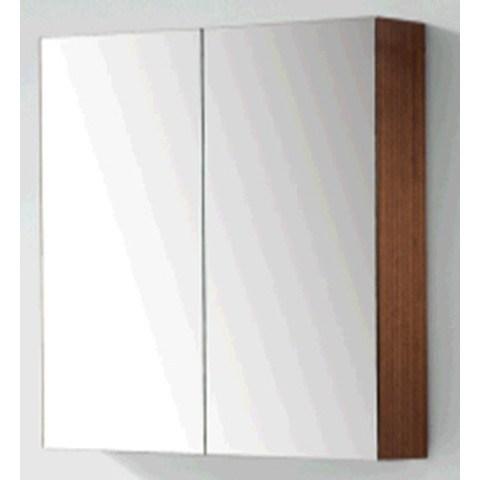 Blinq Tania spiegelkast 80 cm. met 2 deuren zilver eiken