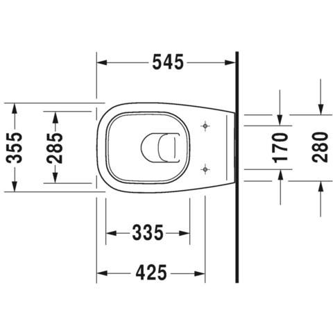 Duravit D-Code wandcloset diepspoel wit