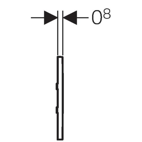 Geberit Type 30 urinoir bedieningsplaat met batterijvoeding matchroom-chroom-matchroom