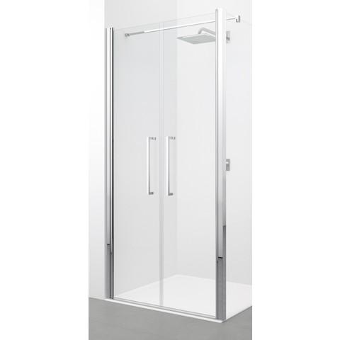 Novellini Young 2.0 2-delige draaideur 93 x 200 cm. matchroom-helder glas