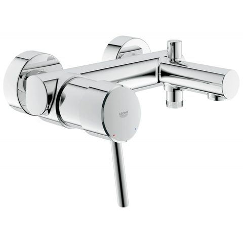 Grohe Concetto badkraan 15 cm. m/omstel chroom