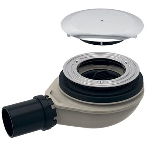 Geberit  douchebakafvoer 40mm. met deksel waterslot 30 mm. chroom