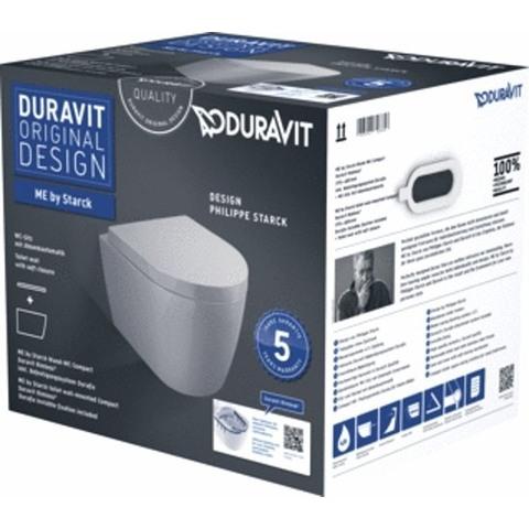 Duravit Me by Starck wandcloset Compact Rimless met zitting QR + SC