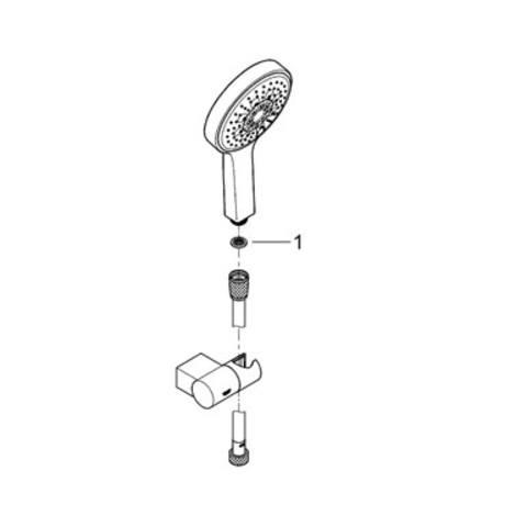 Grohe Power & Soul badset met slang 175 cm. en handdouche 130 mm. chroom