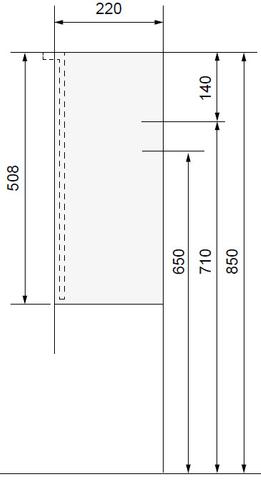 Wavedesign Cassino fonteinkast incl. fontein 40x22x60 cm. diamant grey