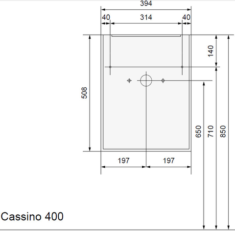 Wavedesign Cassino fonteinkast incl.fontein 40x22x60 cm. grey oak