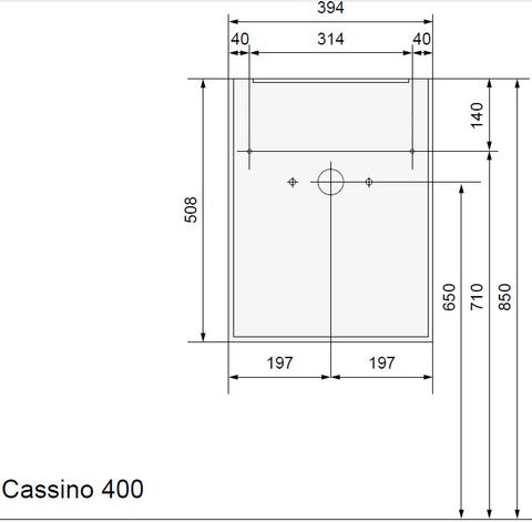Wavedesign Cassino fonteinkast incl.fontein 40x22x60 cm. brown oak