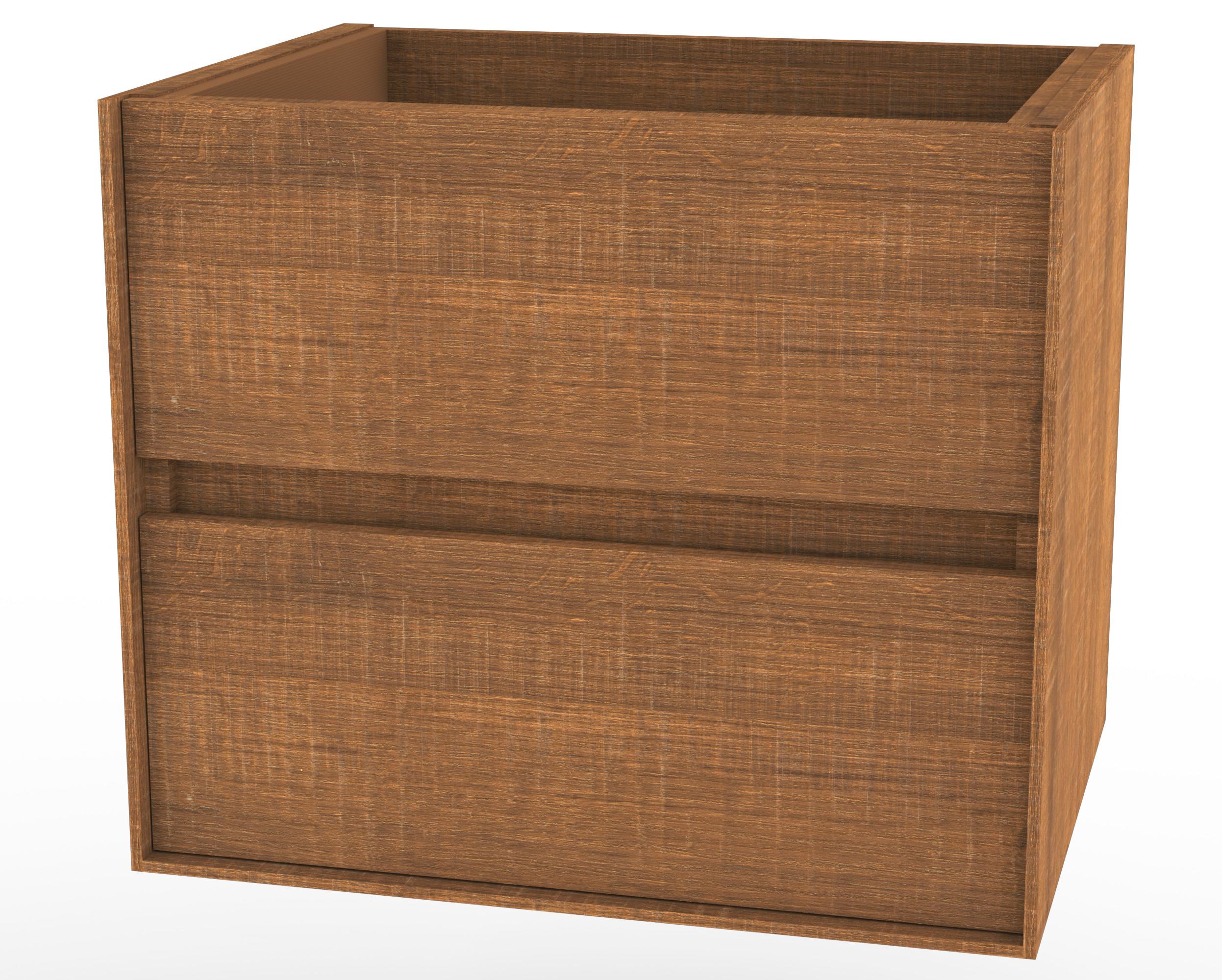 60x46 CmBrown Pescara Oak Wastafelonderkast 5820090859 Wavedesign sdQCrxth