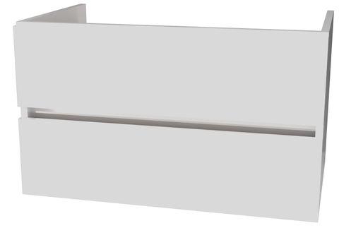 Wavedesign Napoli wastafelonderkast 90x45 cm. hoogglans wit