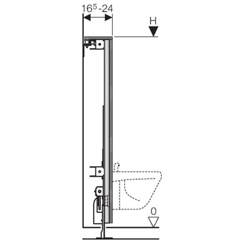 Geberit Gis Easy bidetmodule 120x65-95 cm.