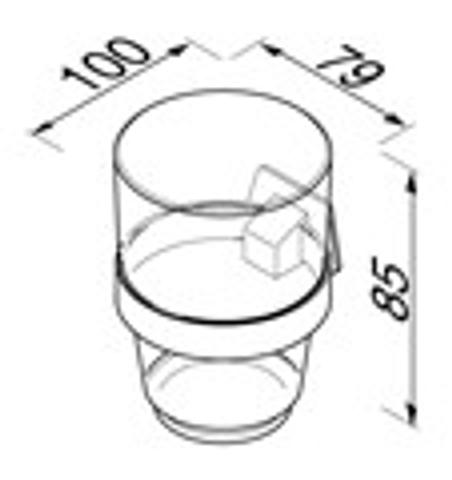 Geesa Standard Collection glashouder met gehard glas