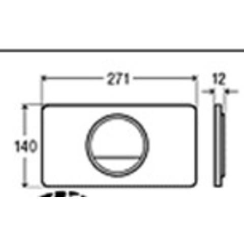 Blinq Irvin 13 wc bedieningsplaat chroom