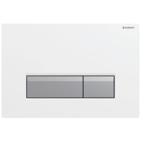 Geberit Sigma 40 bedieningsplaat met duofresh geurafzuigingsset wit-aluminium