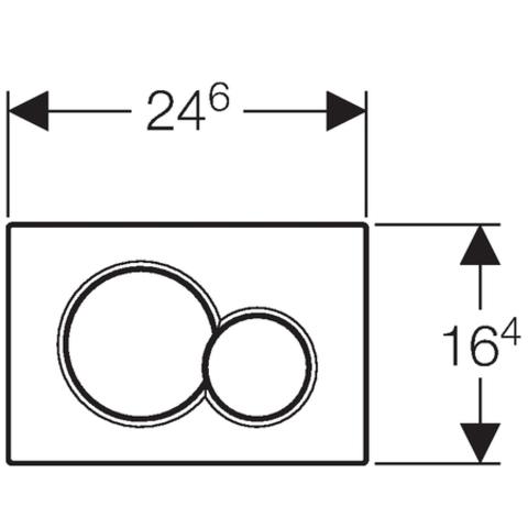 Geberit Sigma 01 bedieningsplaat glans chroom - mat chroom - glans chroom (plaat - ring - knop)