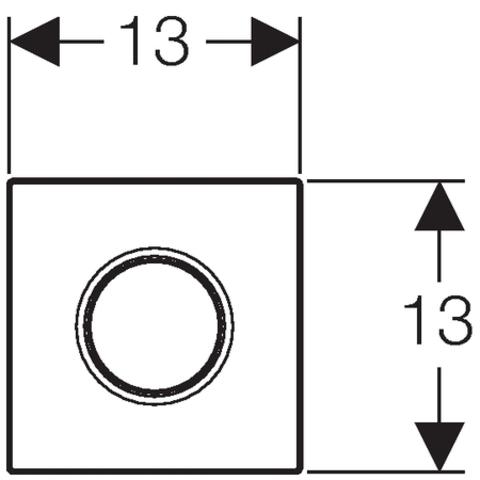 Geberit Sigma 01 urinoir bedieningsplaat pneumatisch chroom