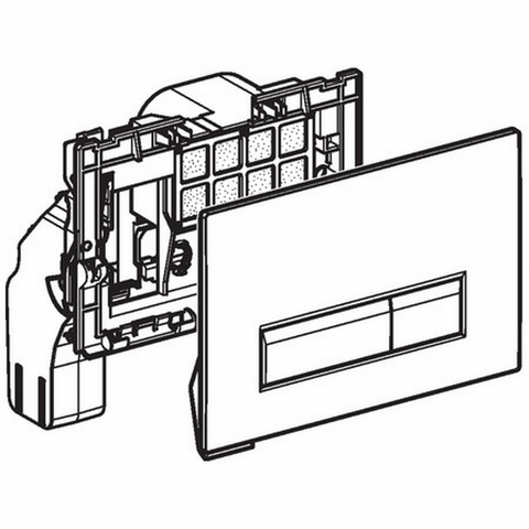 Geberit Sigma 40 bedieningsplaat met duofresh geurafzuigingsset glas umbra-aluminium
