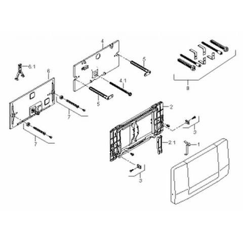 Geberit Highline bedieningsplaat voor inbouwreservoir rvs