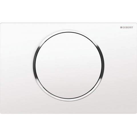 Geberit Sigma 10 bedieningsplaat kleuren:plaat/ring/knop wit-chroom-wit