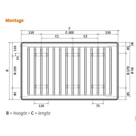 Radson Compact paneelradiator 750x2550x106mm (H x L x D) - type 22
